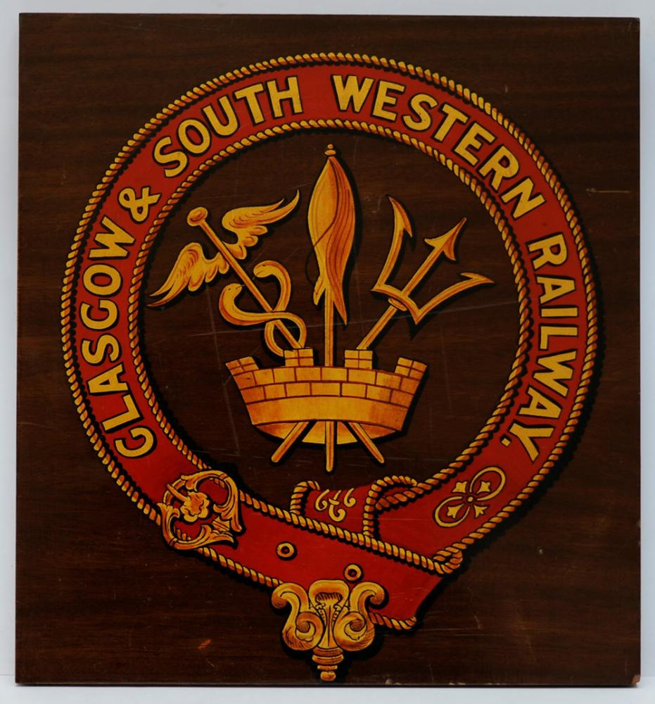 Glasgow And South Western Railway Mounted Crest.