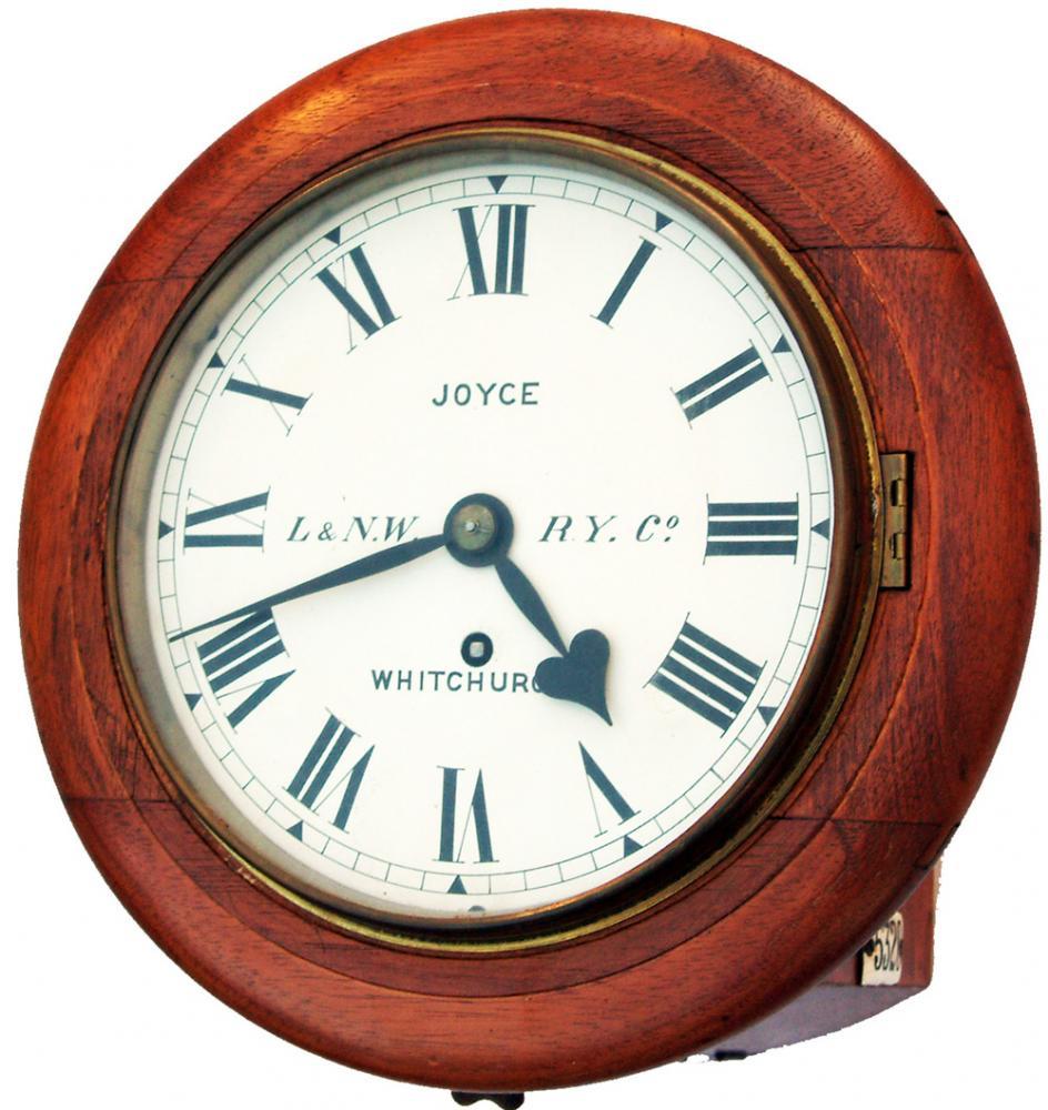 London & North Western 8 Oak Cased Fusee Clock By
