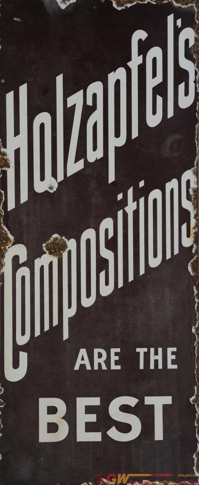 Enamel Advertising Sign 'Holzapfel's Compositions'