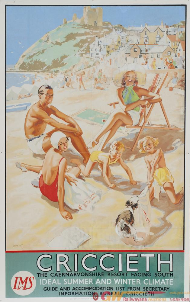 Poster LMS CRICCIETH THE CAERNARVONSHIRE RESORT