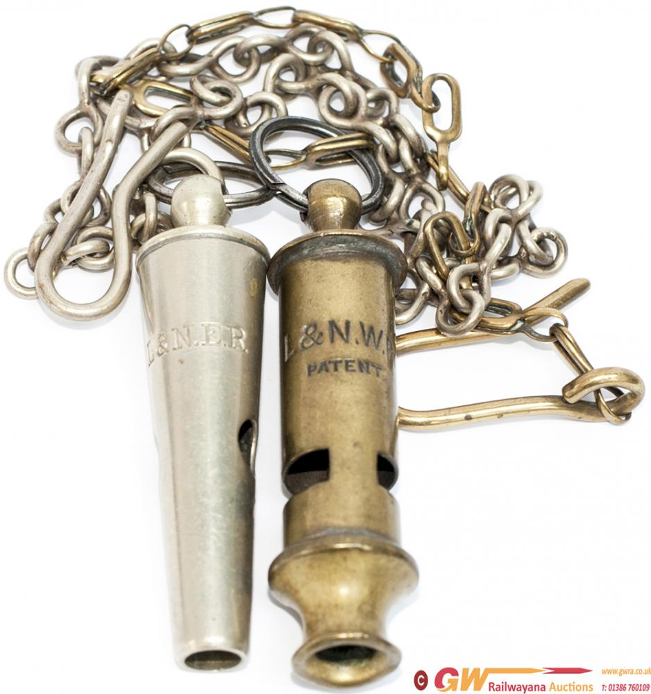 Railway Police Whistles X 2 One Stamped On The