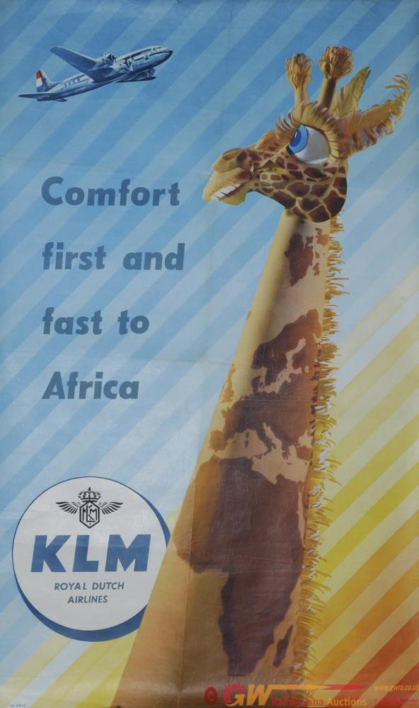 Poster Airline 'Comfort First And Fast To Africa