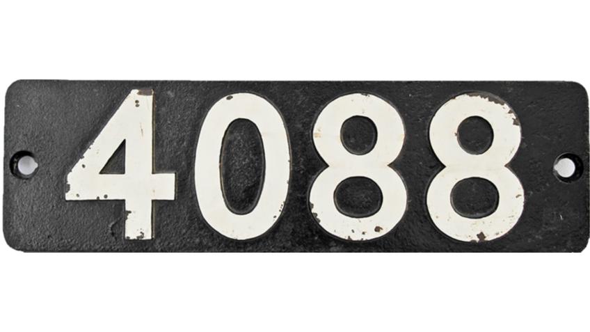 Collectable Antique Railwayana Auction World Records - GW Railwayana - 4088 Castle Smokebox