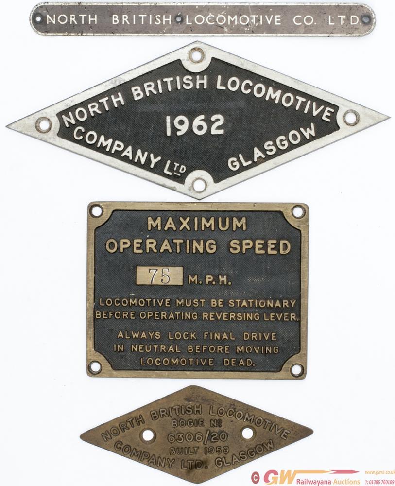 Diesel Cab Plate NORTH BRITISH LOCOMOTIVE COMPANY