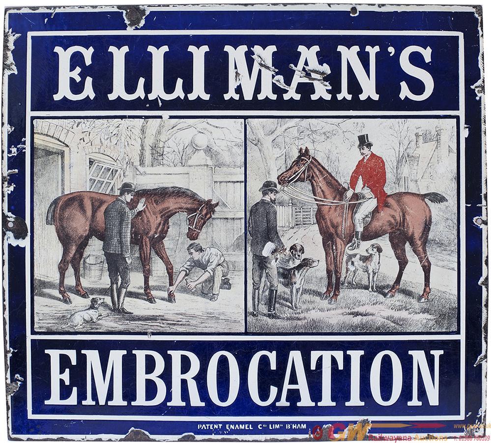 Advertising Pictorial Enamel Sign ELLIMANS