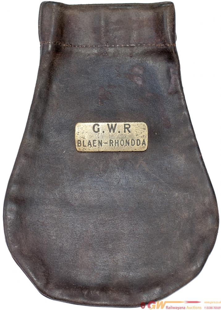 Great Western Railway Leather Cashbag Brass Plated