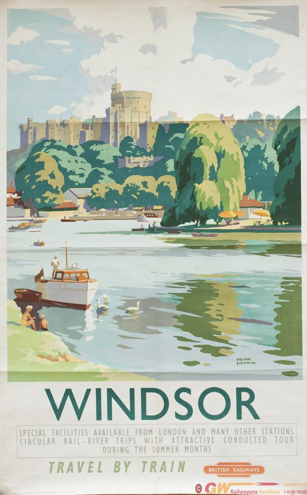 Poster BR(W) WINDSOR By Frank Sherwin. Double