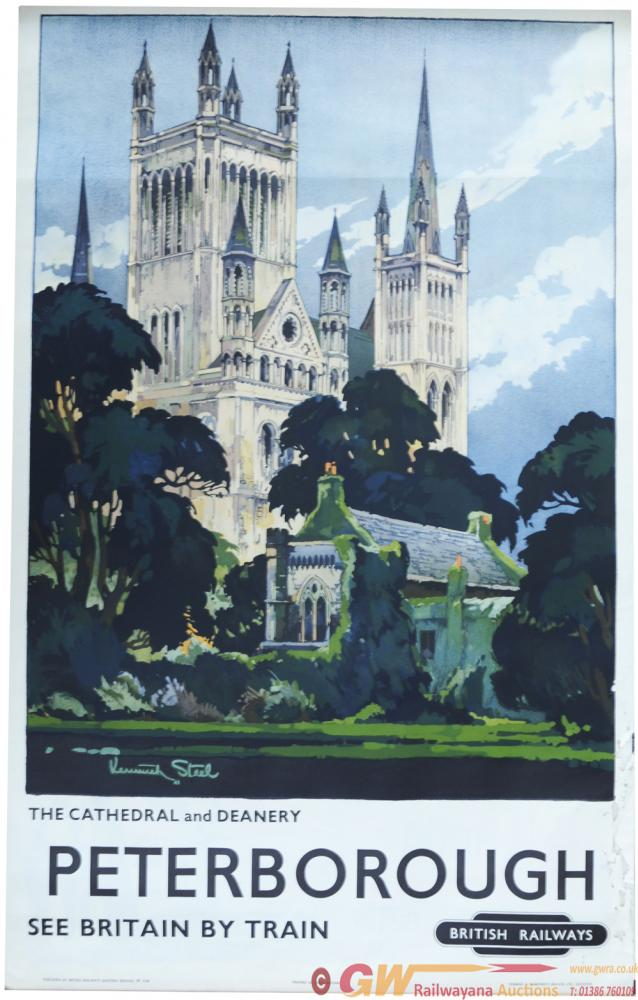 BR Poster, 'Peterborough - The Cathedral &