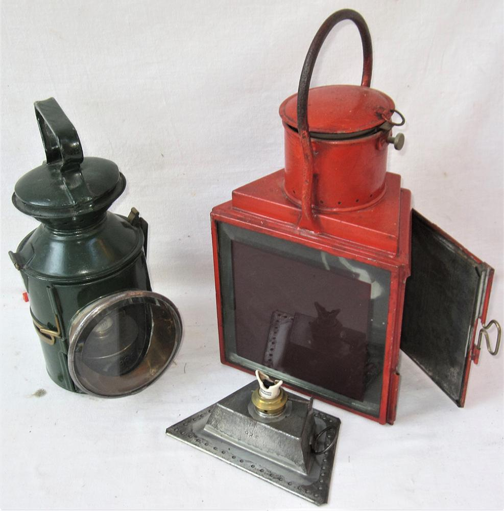 LNER (GE PATTERN) 3 Aspect Hand Lamp Complete With