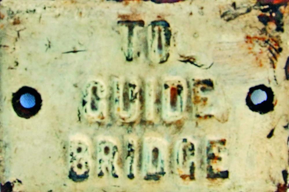 LNWR C/I Signal Lever Plate TO GUIDE BRIDGE In
