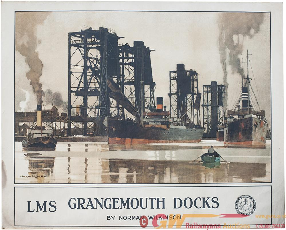 LMS Poster GRANGEMOUTH DOCKS By Norman Wilkinson.