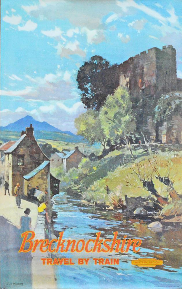 Poster British Railways 'Brecknockshire - Travel