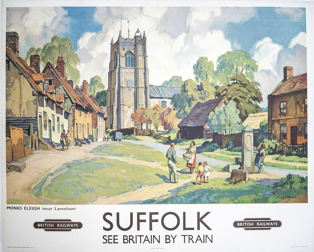 Poster BR(E) SUFFOLK MONKS ELEIGH (NEAR LAVENHAM)