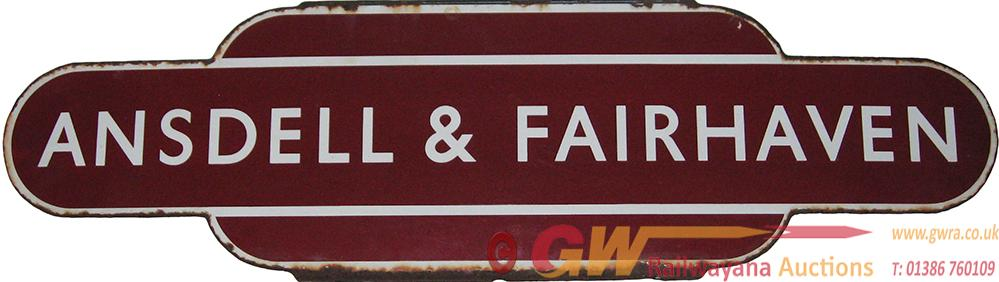 Totem BR(M) 'ANSDELL & FAIRHAVEN' H/F. Ex LMS