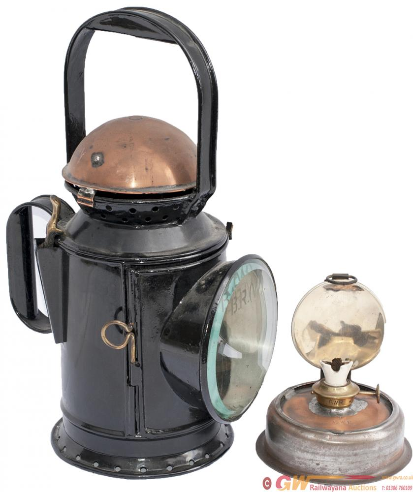 GWR 3 Aspect Coppertop Handlamp Stamped In The
