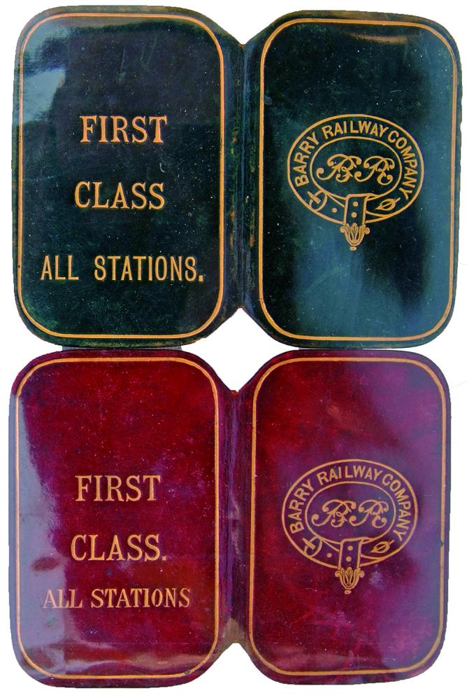 Barry Railway Company Leather Covered Free Passes,