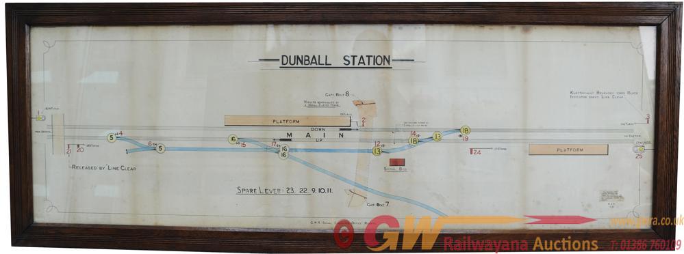 GWR Framed And Glazed, Hand Coloured Signal Box