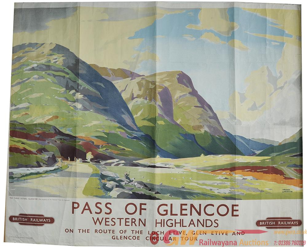 Poster BR Pass Of Glencoe - On The Route Of Loch