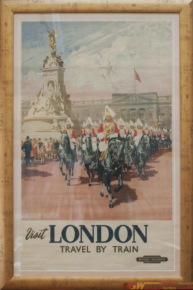 Poster BR(W) VISIT LONDON TRAVEL BY TRAIN By