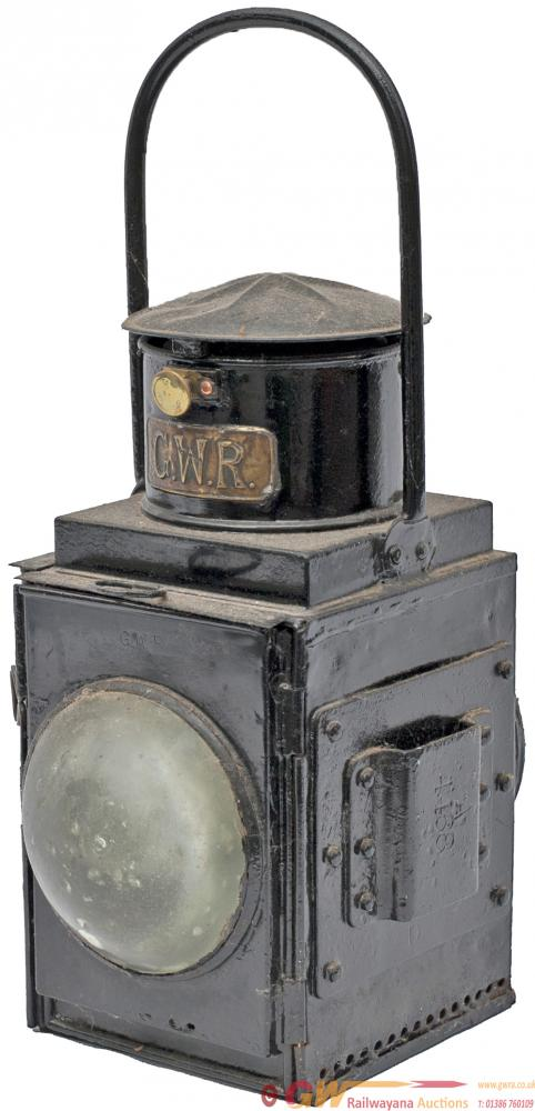 GWR Brakevan Lamp Brass Plated GWR On The Chimney