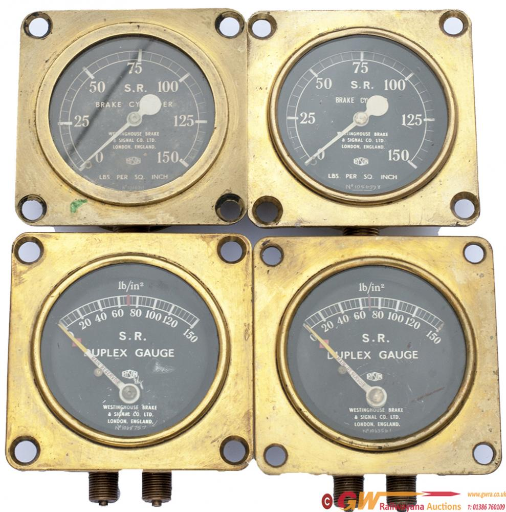 Southern Railway Brass Gauges x4. Two Are Face