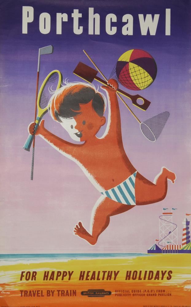 Poster, British Railways 'Porthcawl - For Happy