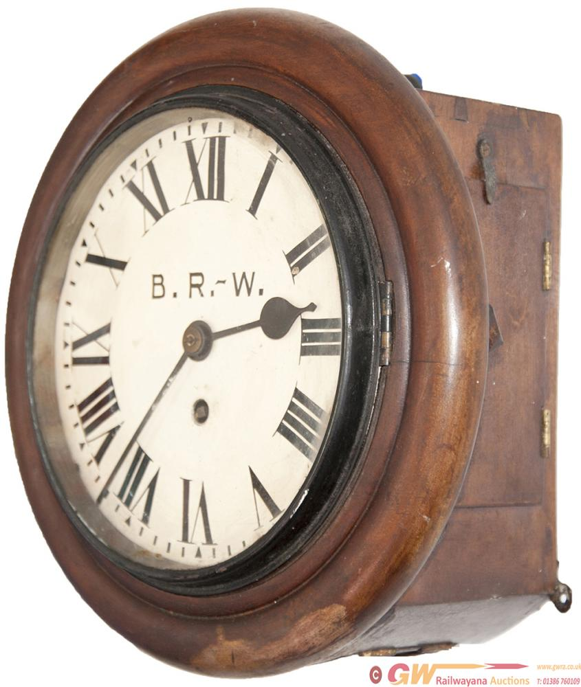 GWR Mahogany Cased 8inch Chain Driven Fusee Clock.
