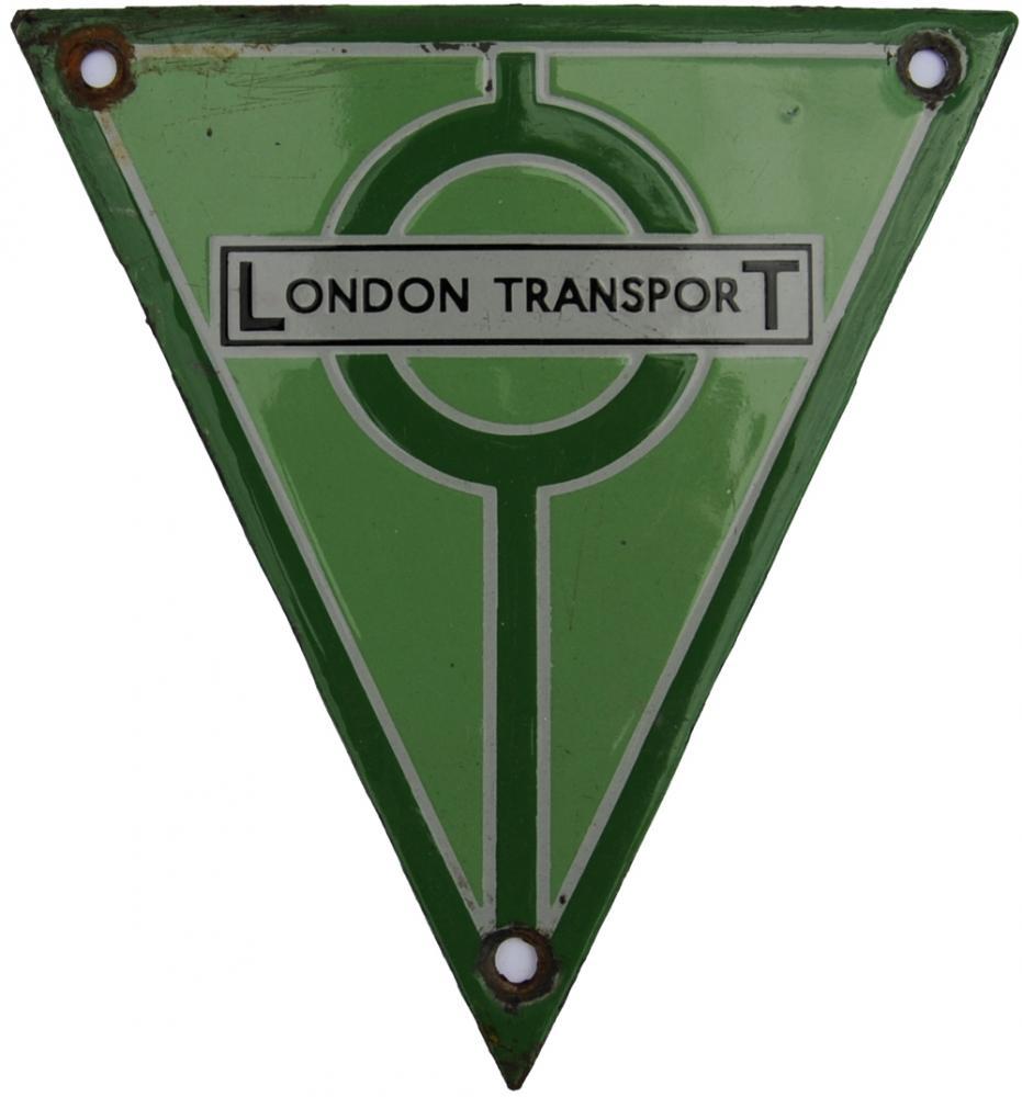 London Transport Radiator Badge, Triangular Enamel