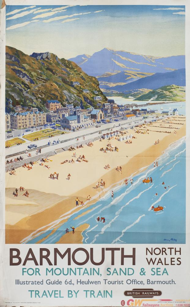 Poster BR(W) BARMOUTH FOR MOUNTAIN, SAND & SEA By
