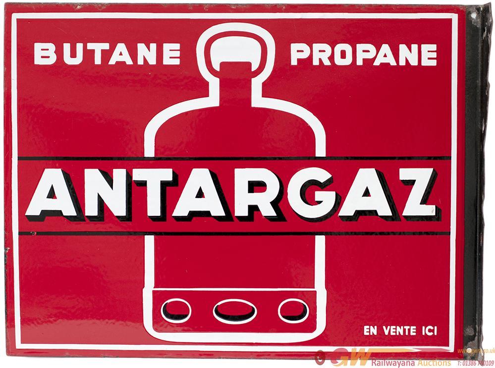 Advertising Enamel Double Sided Sign ANTARGAZ
