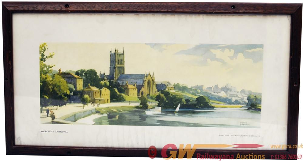 Carriage Print 'Worcester Cathedral' By Frank