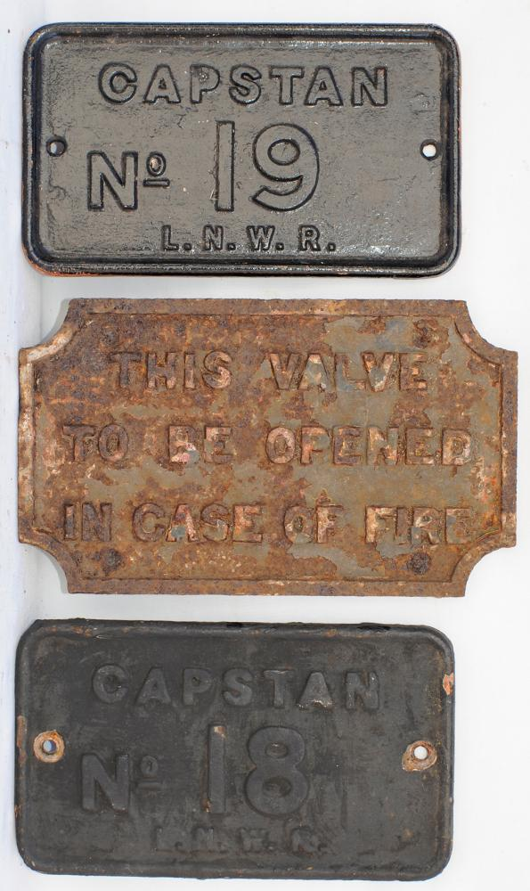 A Collection Of 3 X Small Cast Iron Signs. Capstan