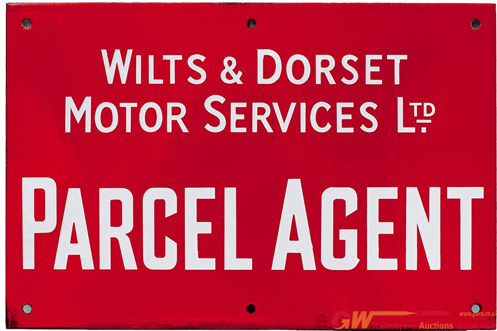 Enamel Bus Sign WILTS & DORSET MOTOR SERVICES