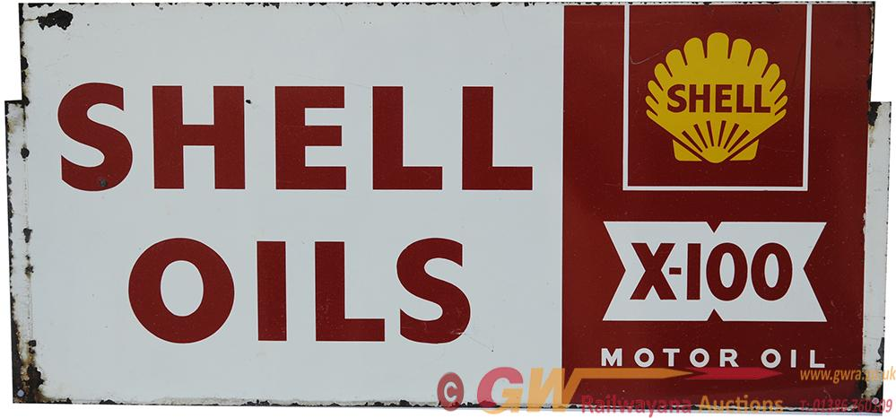 Screen Printed Steel Motoring Sign 'Shell Oils -