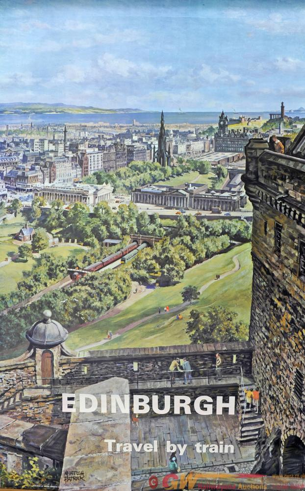 Poster BR 'Edinburgh - Travel By Train' By