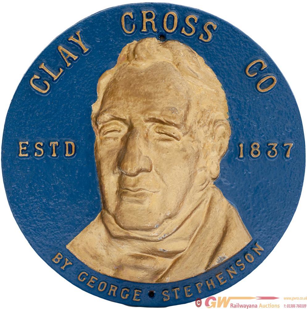 Cast Iron Commemorative Plaque CLAY CROSS CO ESTD