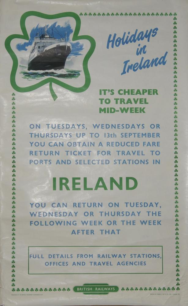 Poster British Railways 'Holidays In Ireland' By