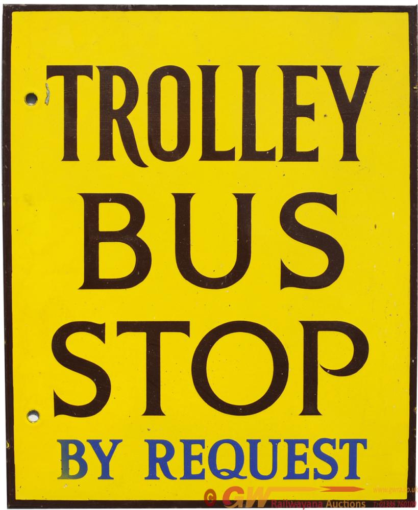 Bournemouth Transport Doubled Sided Enamel Sign