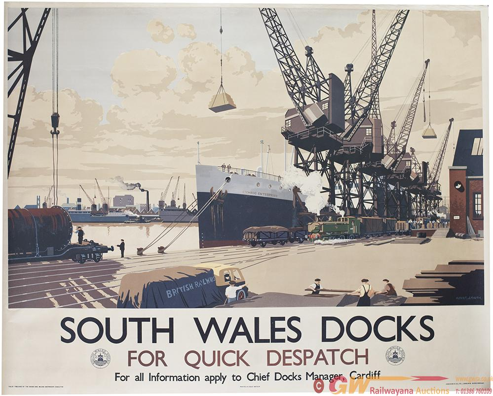 Poster SOUTH WALES DOCKS FOR QUICK DESPATCH By