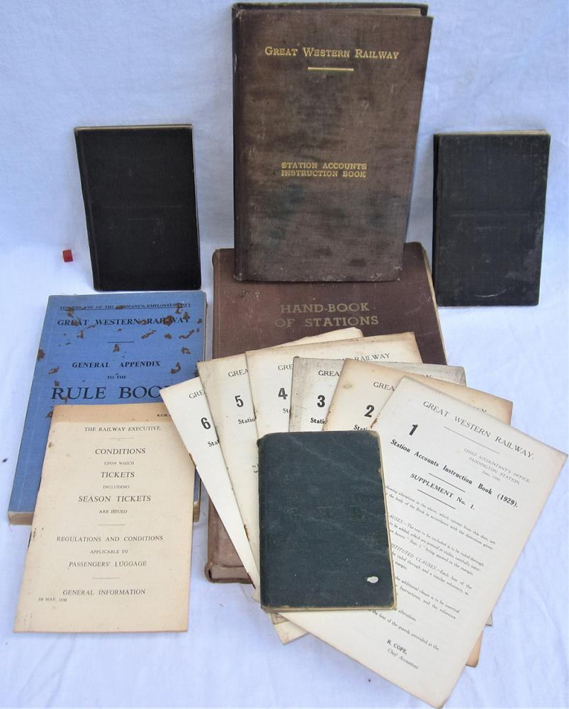A Lot Containing Railway Hand Books And Rule Book