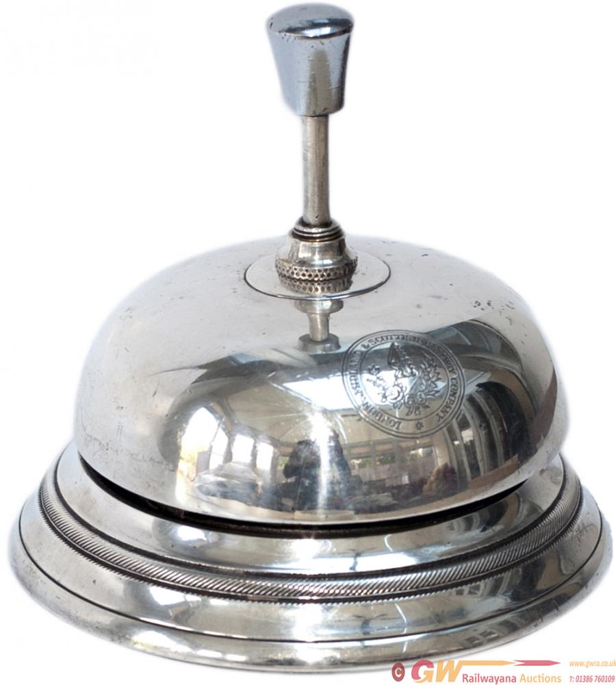 LMS Hotels Silver Plated Reception Bell With Full