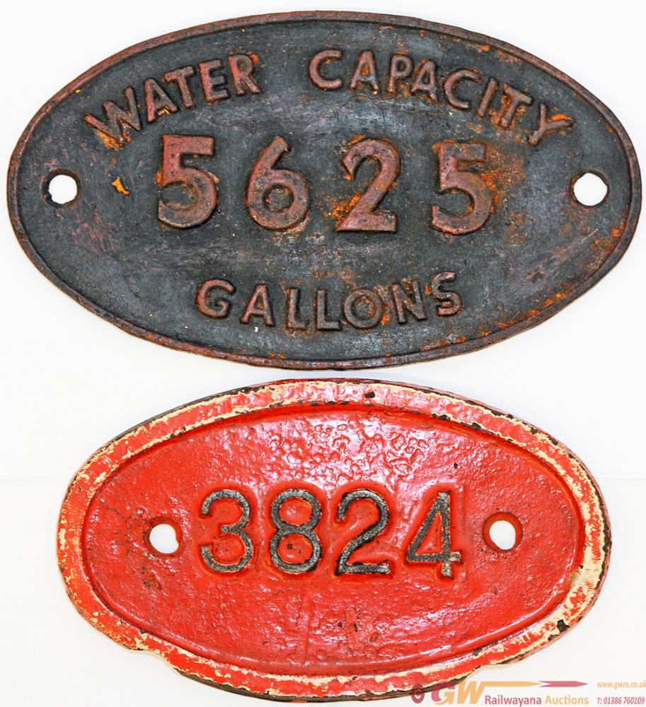 LNER C/I 9 X 5 Tender Plate 3824, Believed To Be A
