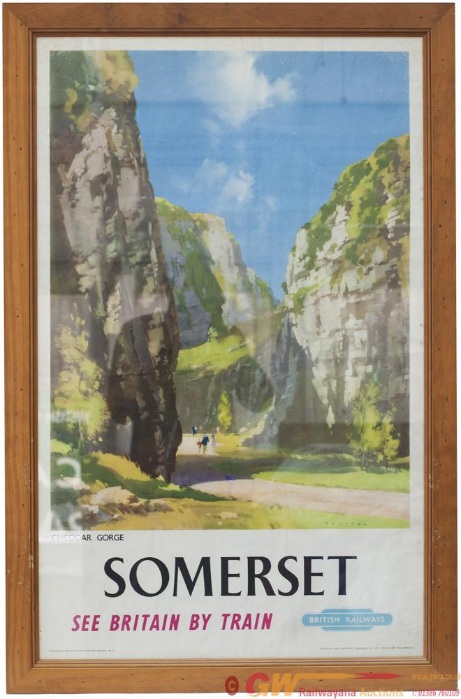Poster BR SOMERSET CHEDDAR GORGE By Wooton. Double