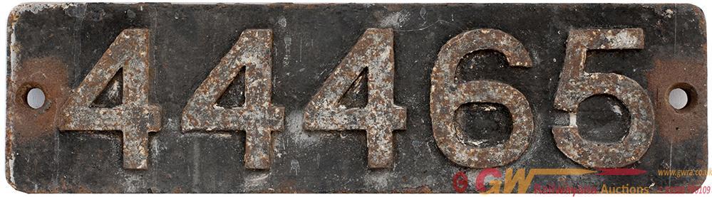 Smokebox Numberplate 44465 Ex LMS Fowler 0-6-0