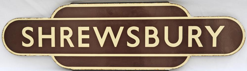 Totem BR(W) SHREWSBURY, H/F. Ex GWR/L&NWR Joint