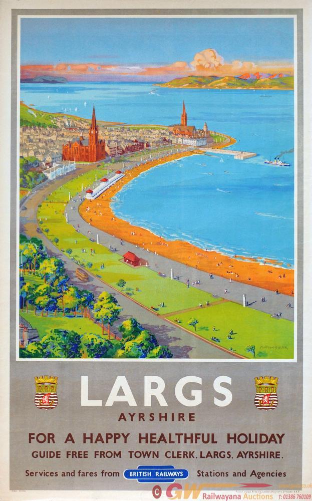 Poster British Railways 'Largs Ayrshire For Happy
