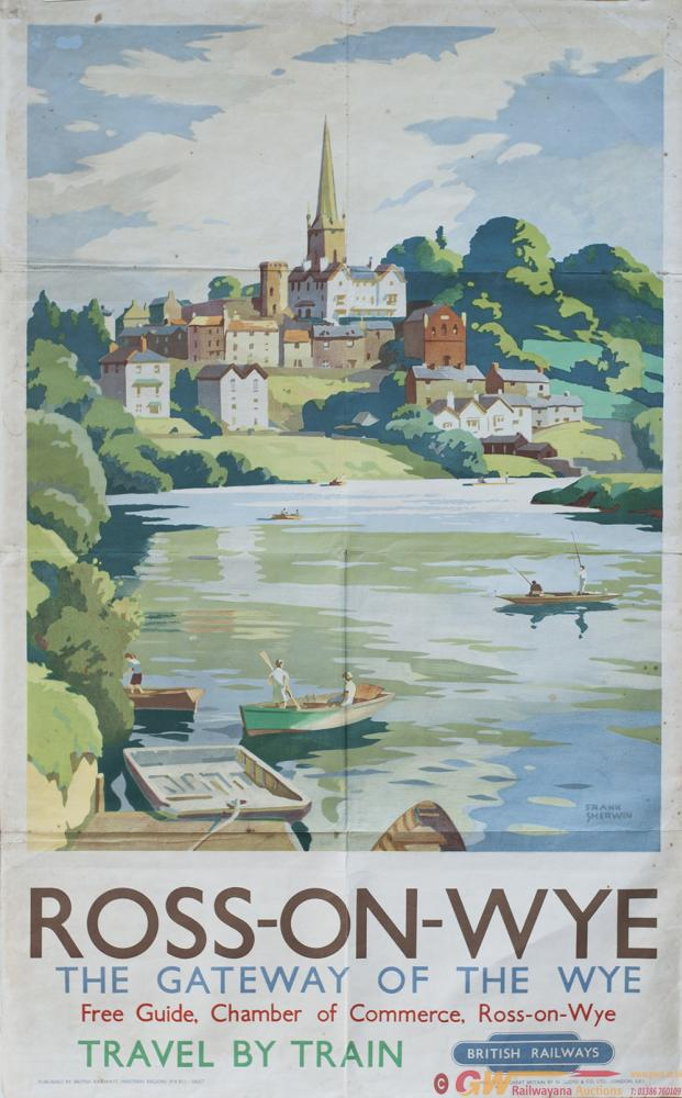 Poster BR(W) ROSS-ON-WYE THE GATEWAY OF THE WYE By
