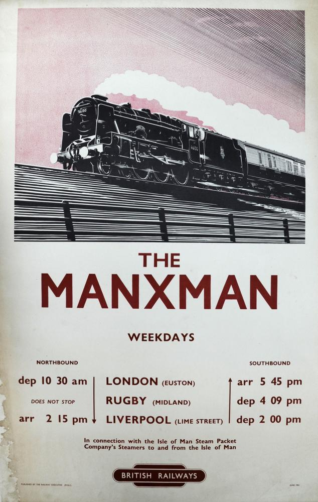 BR Poster The Manxman In Connection With The Isle