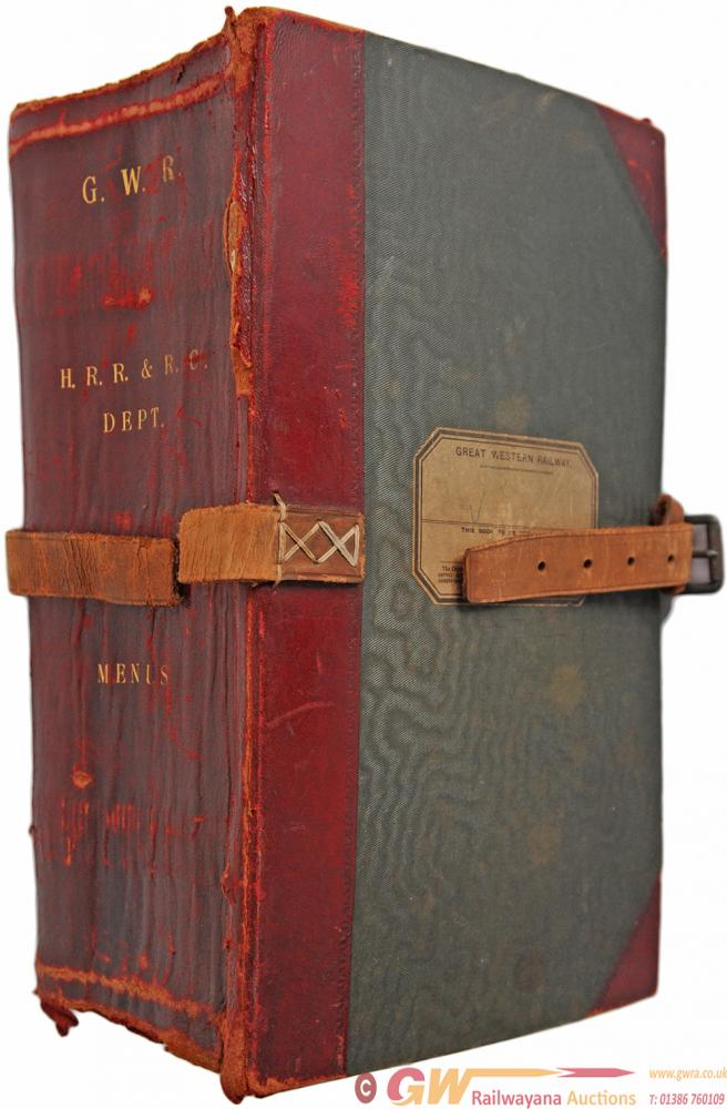 GWR Leather Bound Book , Purple With Gold
