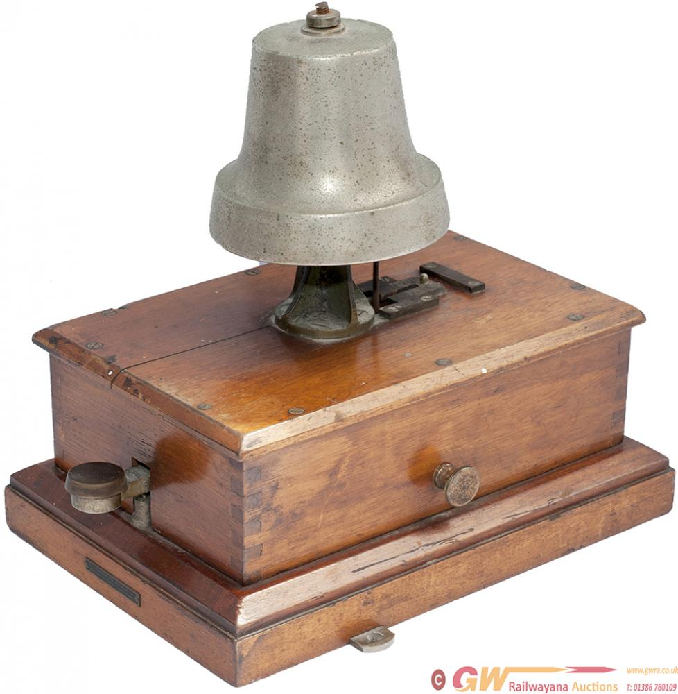 GWRBR-W Mahogany Cased Block Bell With Church Bell